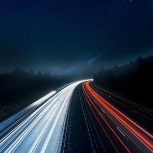 web hosting speed test photo of blurred car lights on a busy road