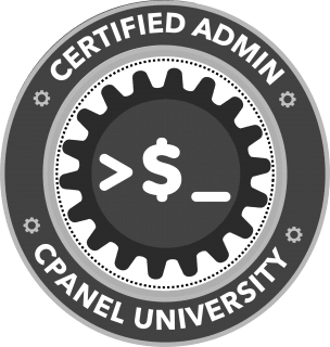 cpanel certified admin badge