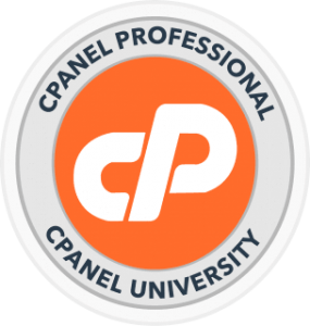 Exlcusive Web Hosting cpanel pro certificate badge