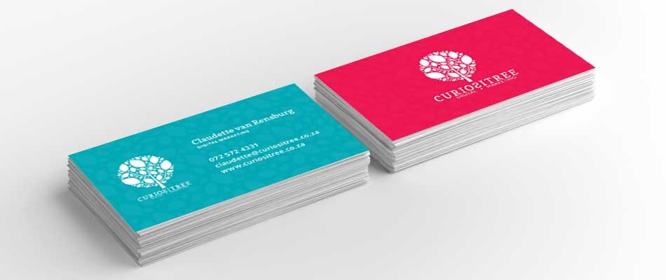 curiositree business card mockup