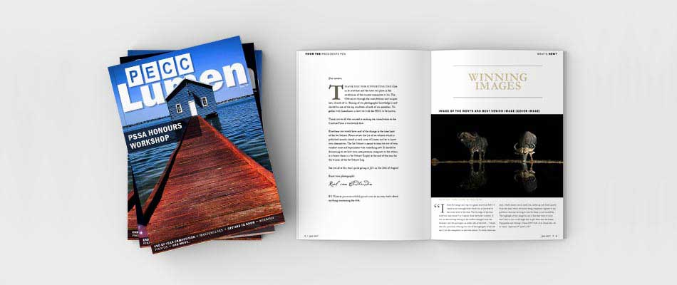 port elizabeth camera club newsletter mockup