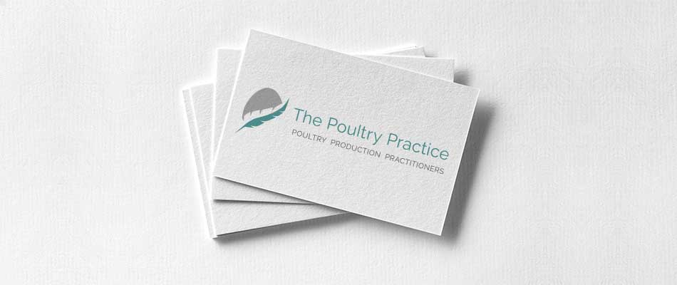the poultry practice logo mockup